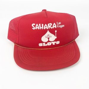 Sahara Hotel and Casino 777 Slots Red Mesh Hat